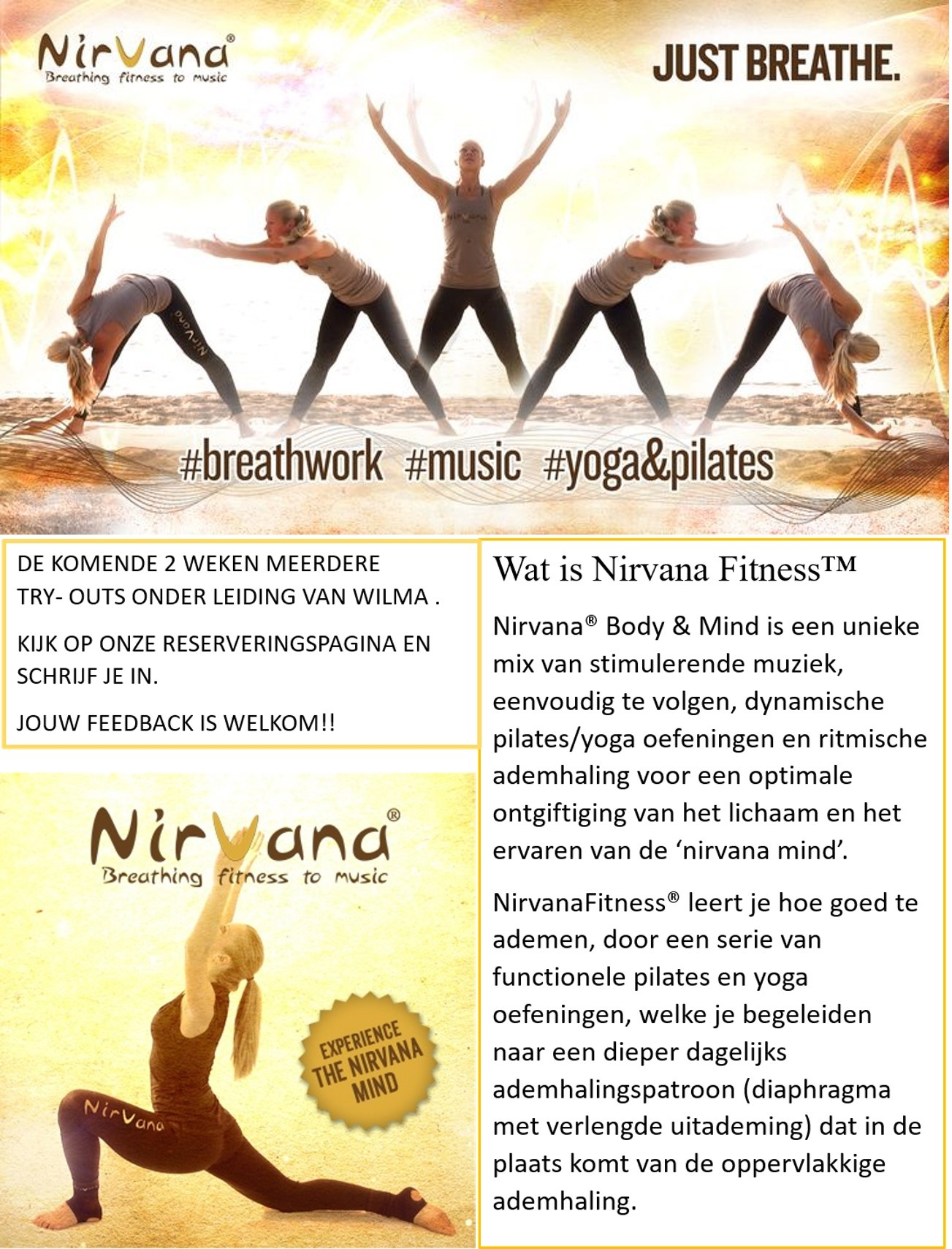 Try out Nirvana fitness
